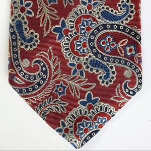 Tommy Hilfiger Tie Paisley Jacquard Red White Blue